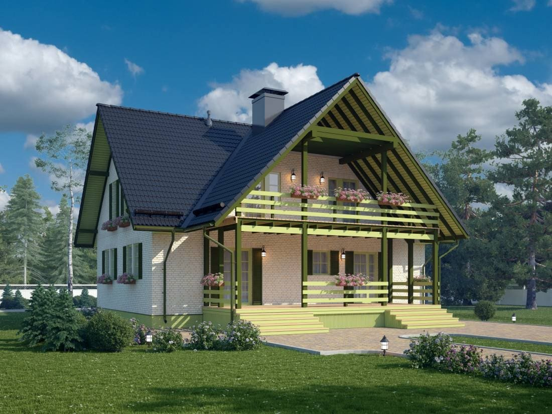 красивые проекты каркасных домов много фото далеко