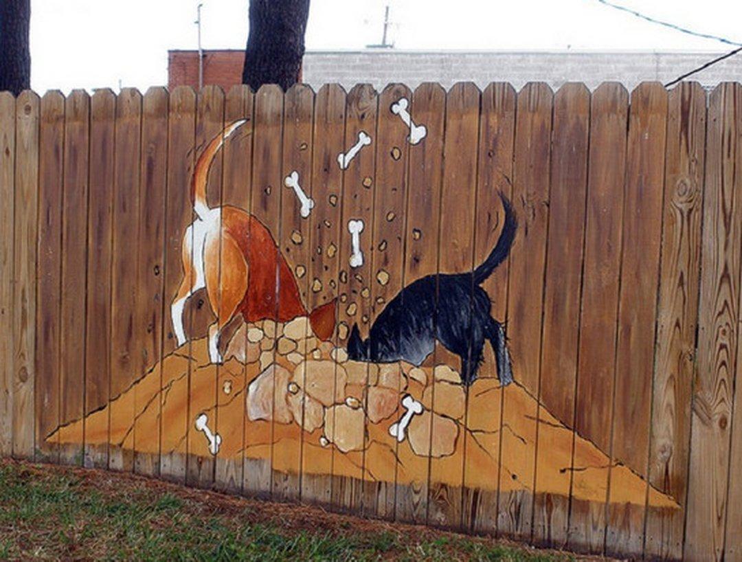 Красим забор смешные картинки