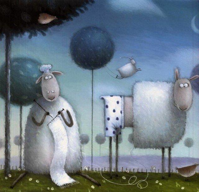 Прикольные с овцами рисунки