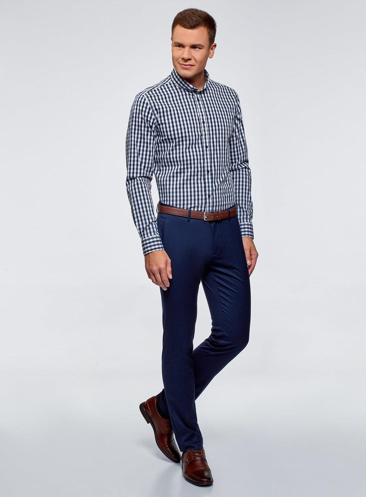 соседнем помещении какую рубашку подобрать к синим брюкам фото протяжении