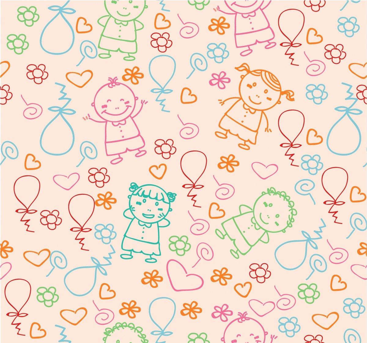 Детские фоны картинки вектор