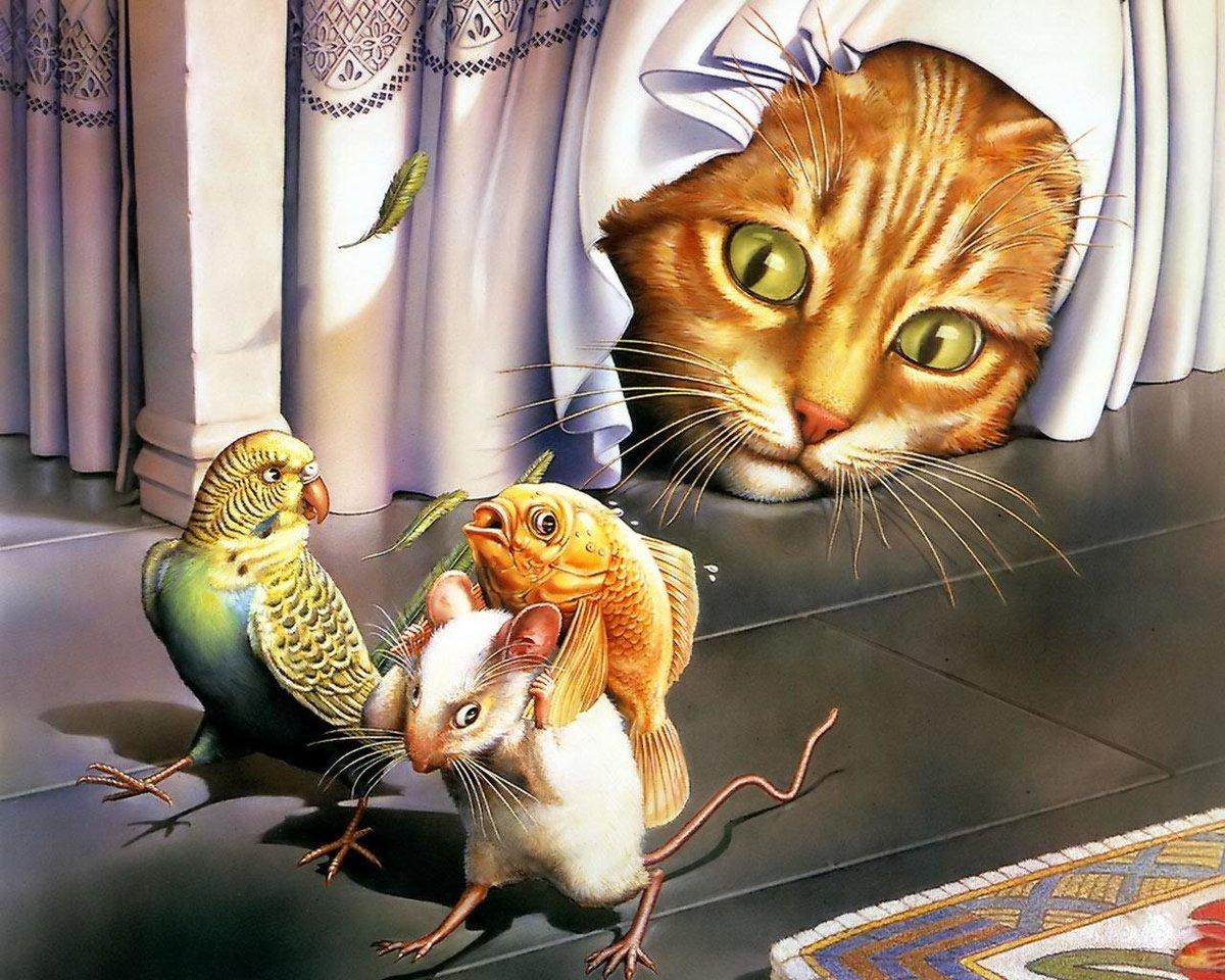 Прикольные картинки рисованные животных