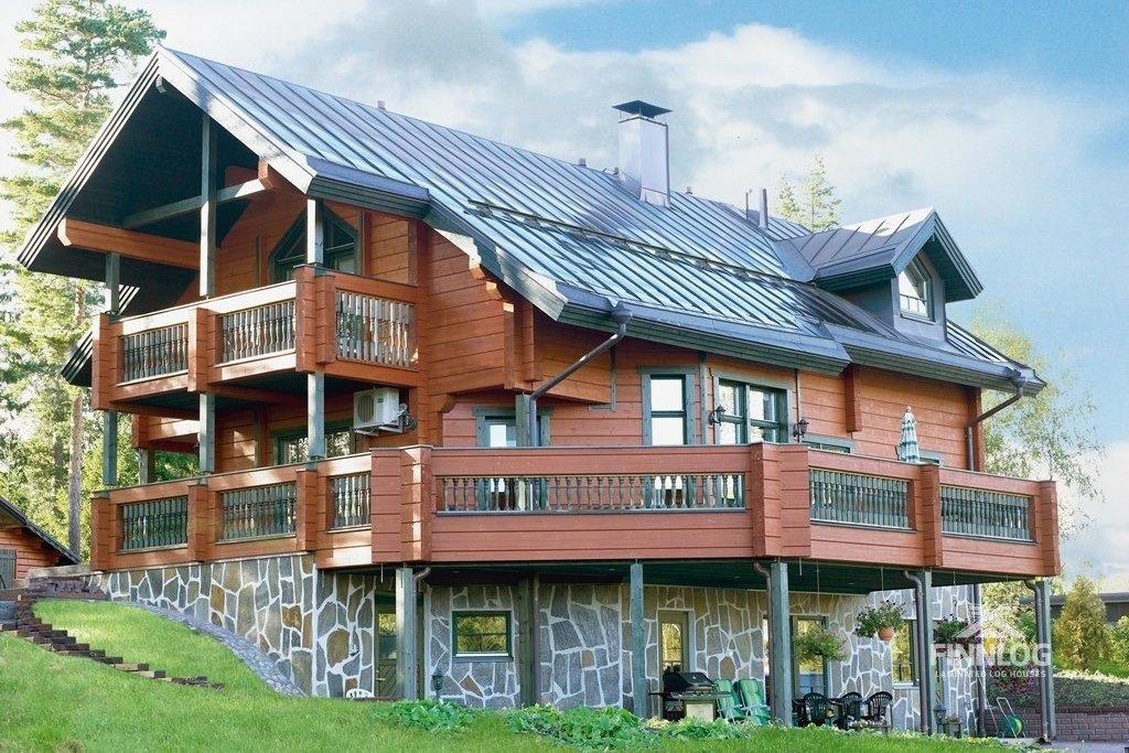 трехэтажные дома из дерева фото