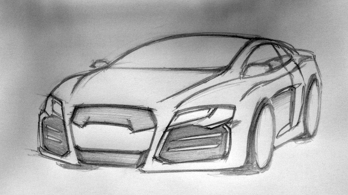 Картинки для срисовки карандашом машины легкие