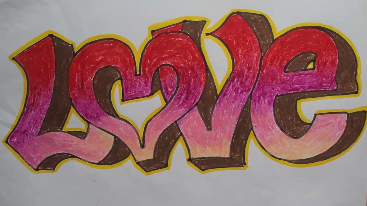 Красивые граффити на бумаге карандашом картинки