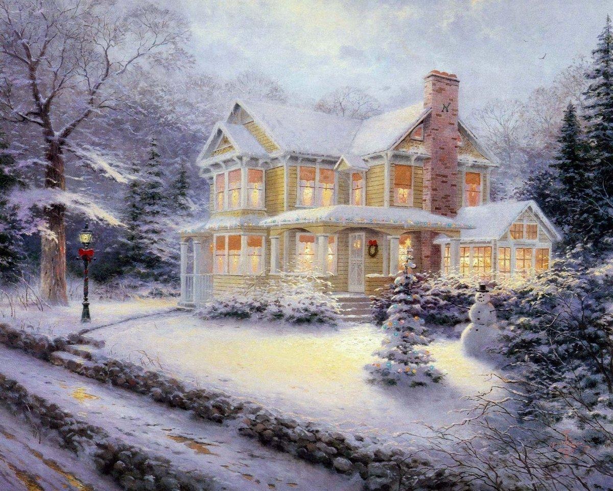 Открытки зимние вечера, полгода