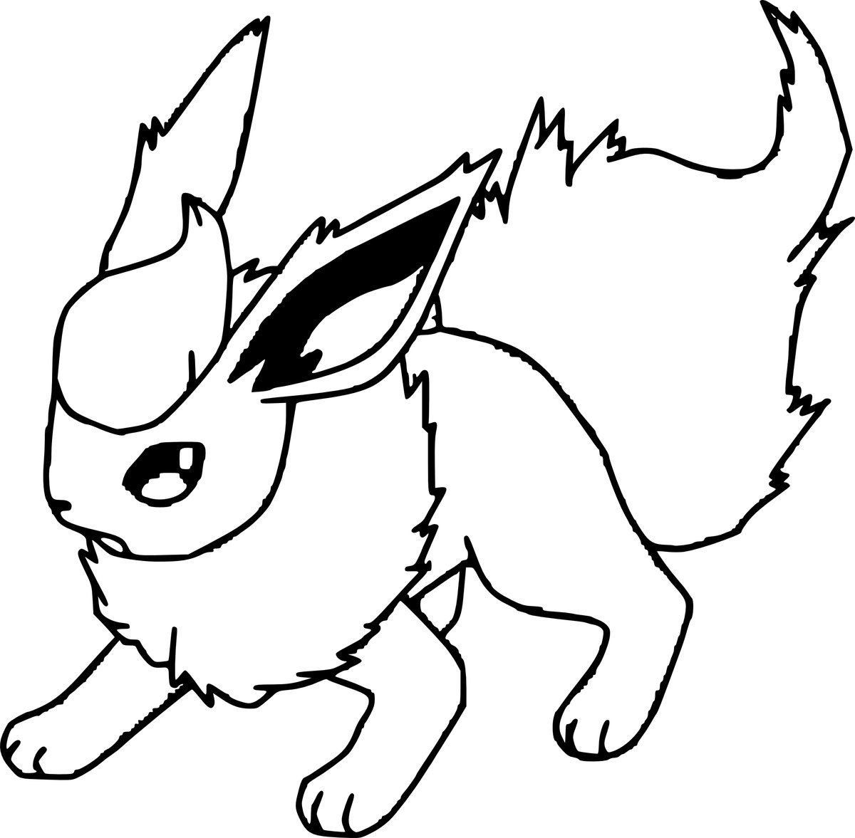 flareon coloring pages Flareon Coloring Pages   Bing images