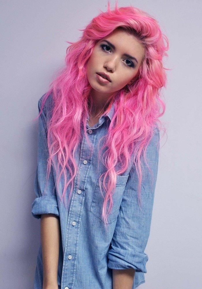 Картинки розовые волосы