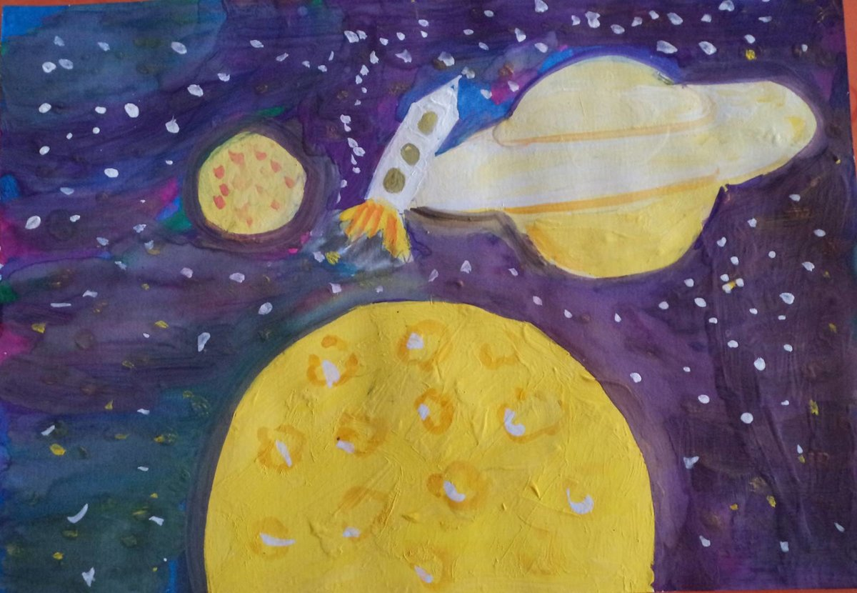Картинки гуашью космос, мишек для детей