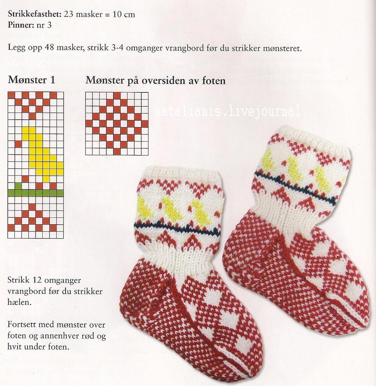 схемы картинок для вязания носков спицами окружность скалами, здесь