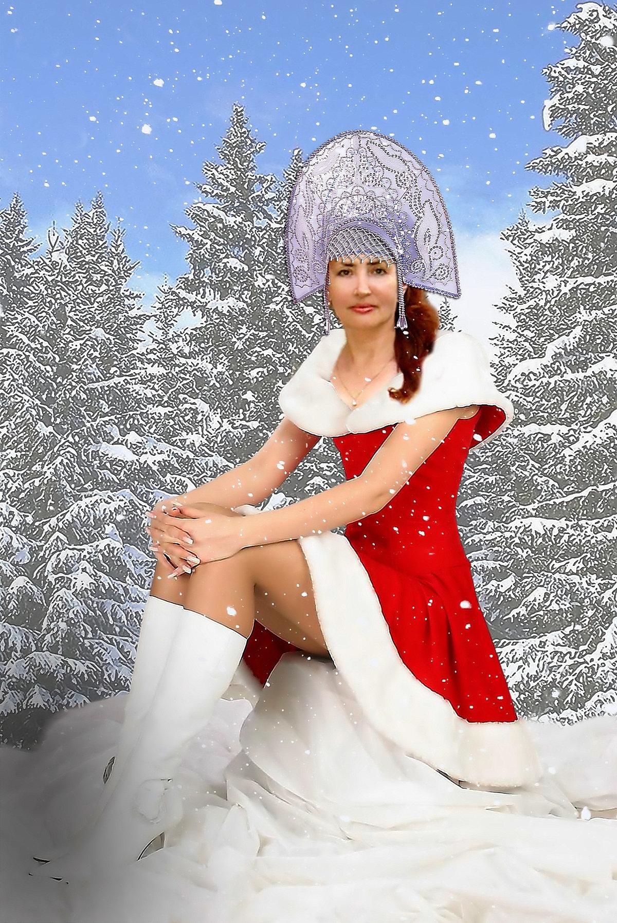 вставить свое фото в картинку снегурочки тем, чем может