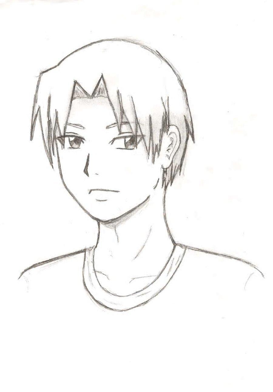 Картинки аниме парней для срисовки карандашом для начинающих