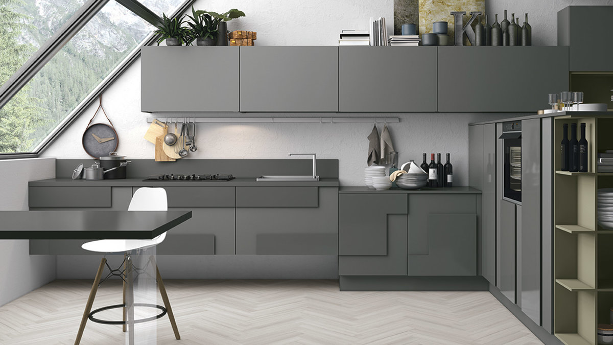 Kitchen design ideas - the grey color in the Kitchen