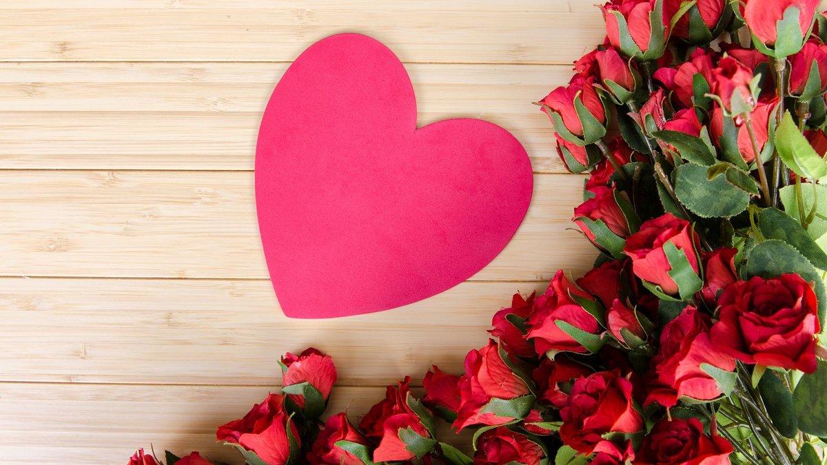 Днем рождения, картинки сердце с цветами