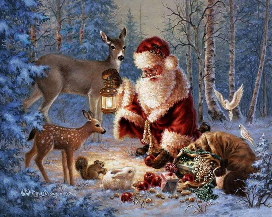 Открытки с зимой и зверями, днем рождения
