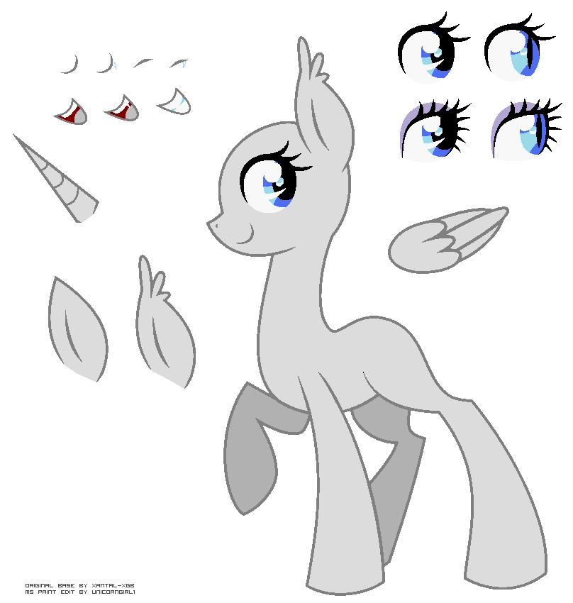 """MLP Unicorn Base MS Paint"