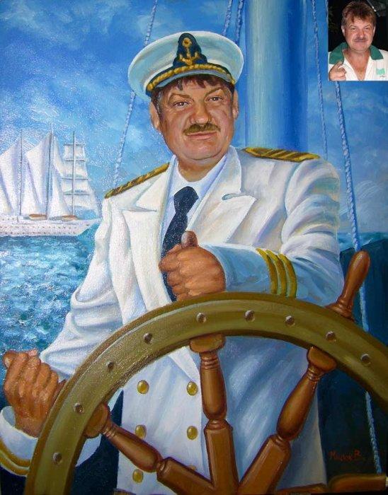 Рисунок матроса на корабле