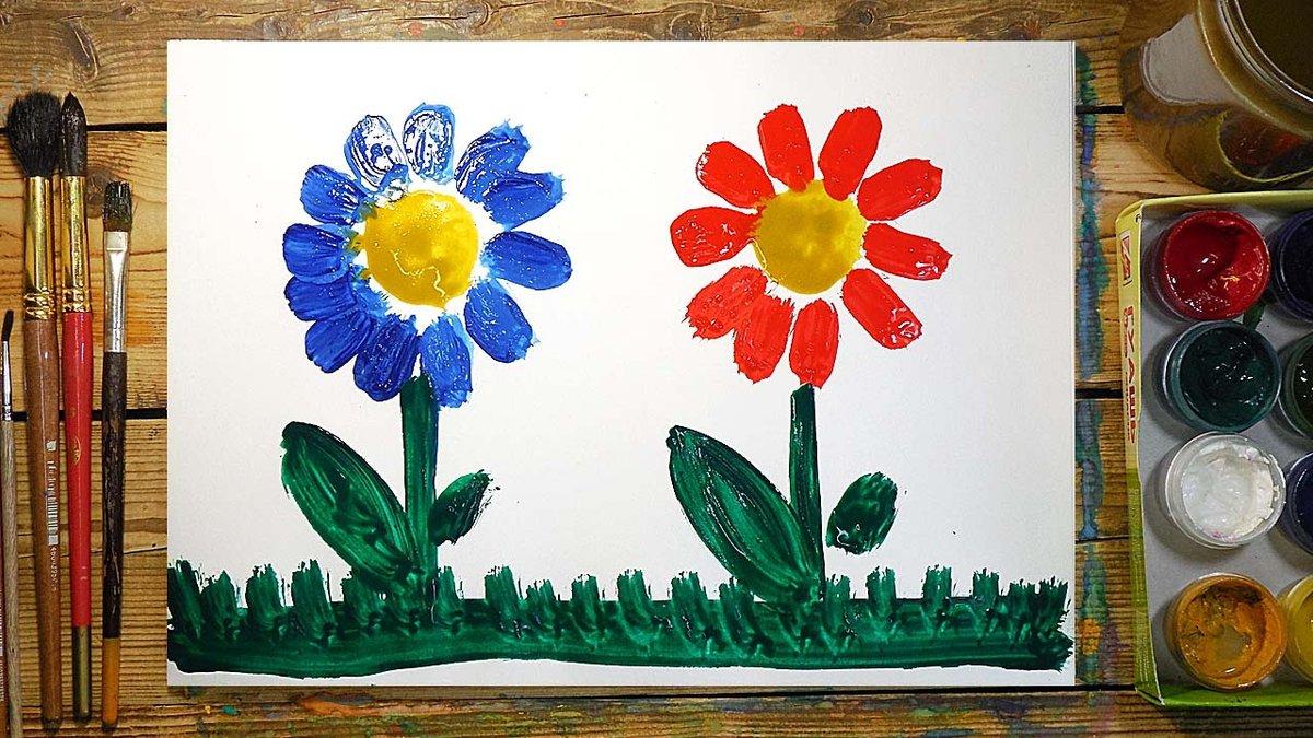 Рисунок красками для детей 4-5 лет, желаю прикольные приглашение