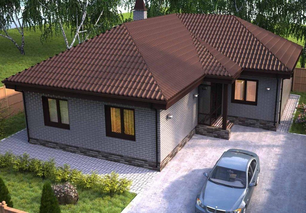 сколько стоит построить одноэтажный дом из кирпича