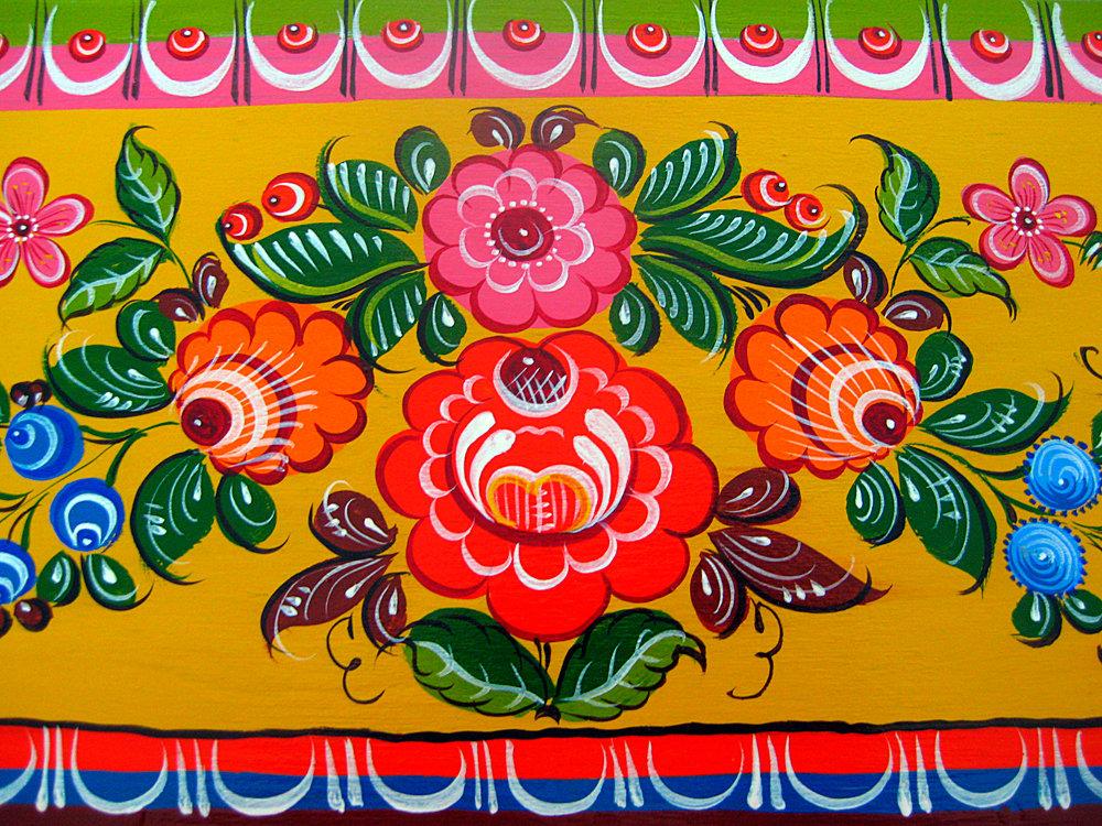 Картинки с городецкой роспись