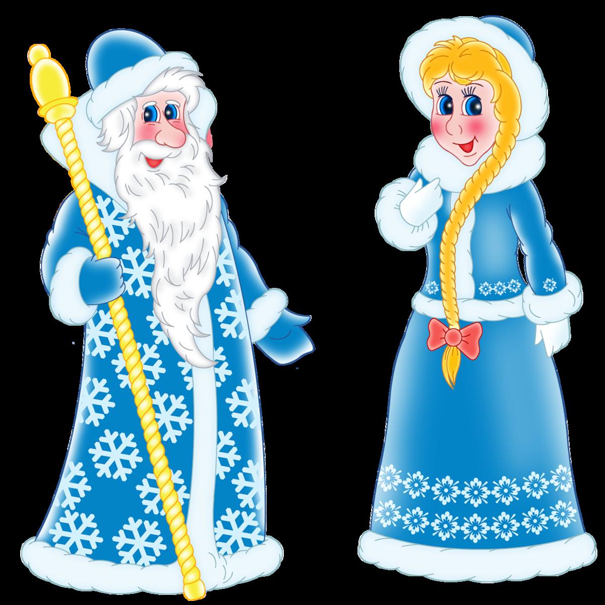 Картинки деда мороза снегурочки и снеговика, днем рождения племяннику