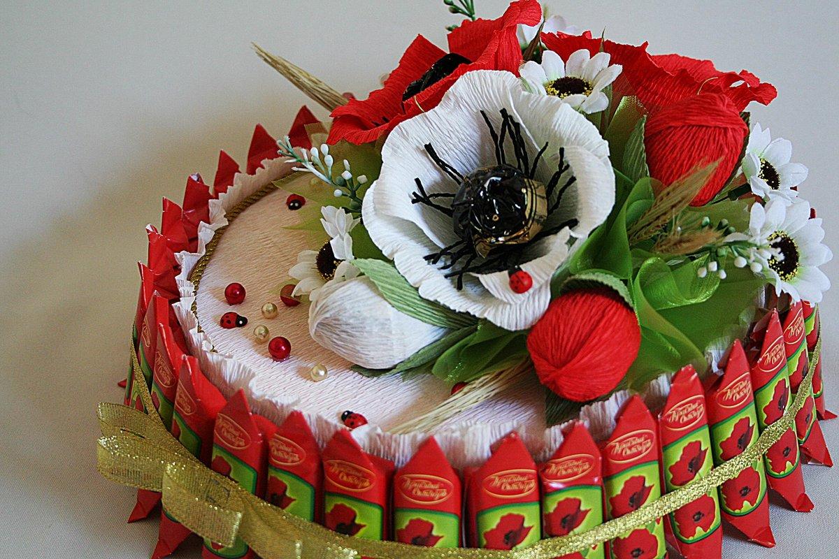 Букет из конфет железнодорожный, цветов