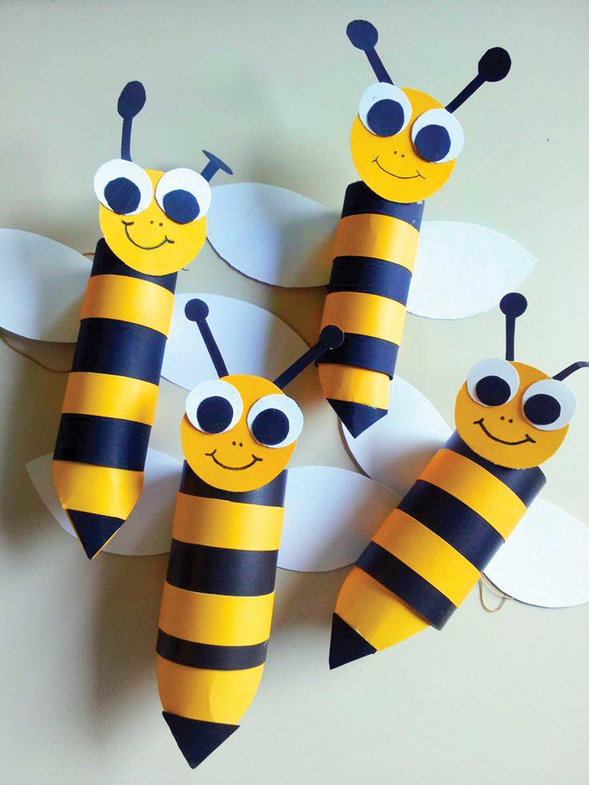 Пчелка из цветной бумаги своими руками