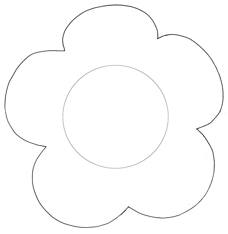 Форма цветка для открытки