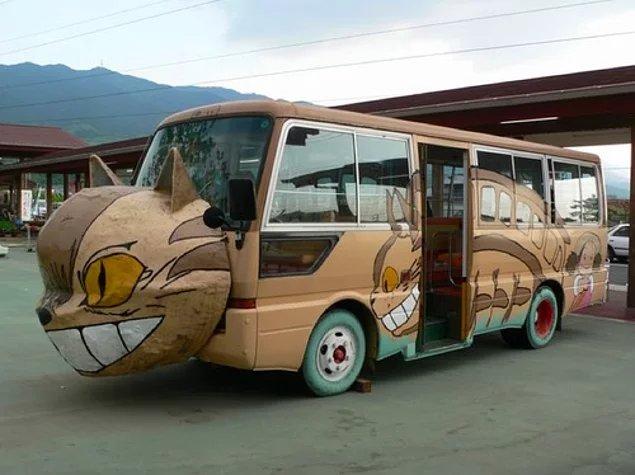 автобус с картинками животных внутри того чтобы было