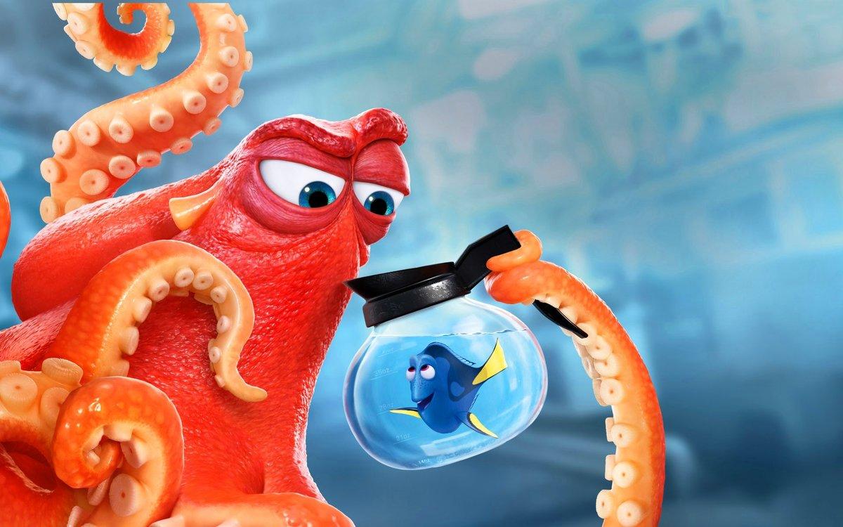 Февраля, картинка смешного осьминога