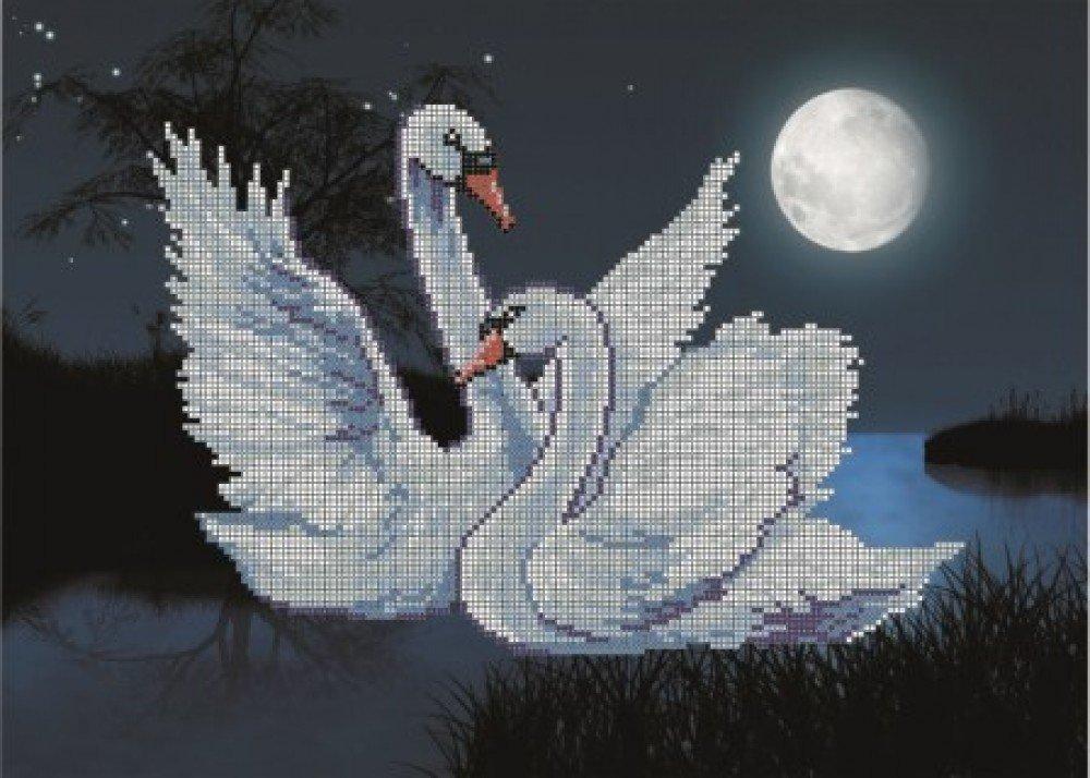 Лебеди схема вышивка картинка