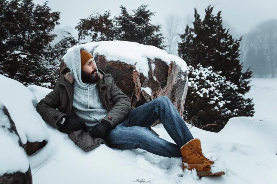 зеленые зимняя мужская фотосессия узкий хочется вам