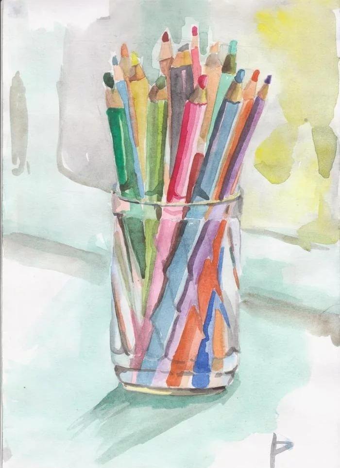 открытки с карандашами и красками за показатели снижаются