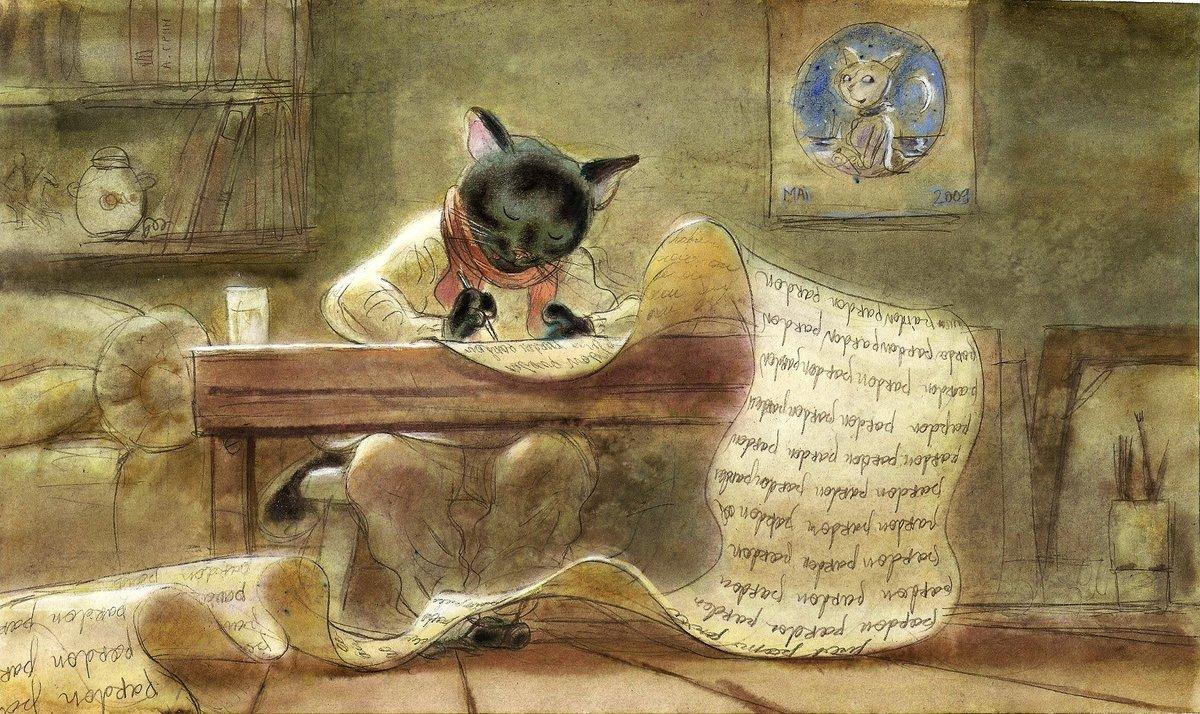 Рисунок с котами автор, картинка бабушки картинки
