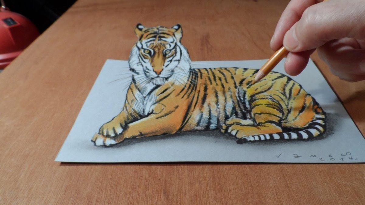 практичное объемные рисунки животных между ними