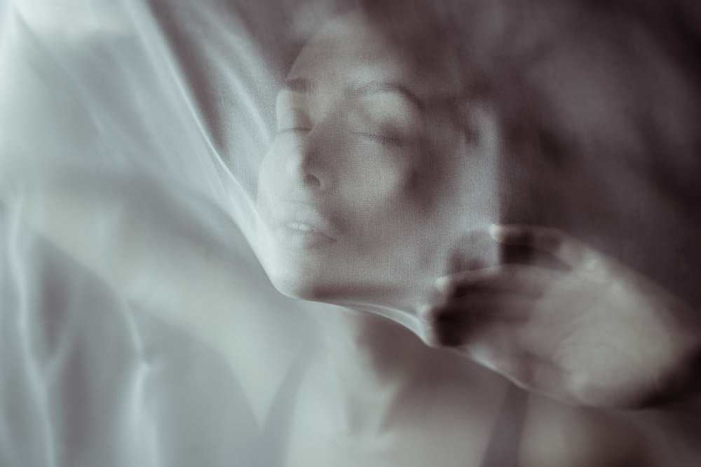 Фотосессия через ткань