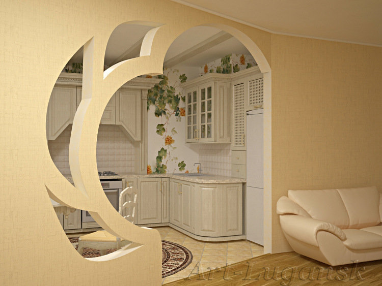 How To Build The Arch From Drywall Design Ideas 70 Photos Loft