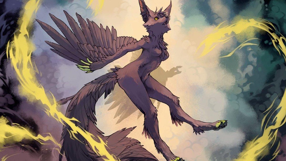 ... Downloads goodfon Wallpaper : illustration, dragon, furry, Anthro, comics, mythology,