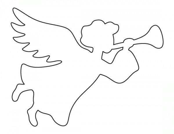 Шаблоны ангелов для открытки, тремя годиками