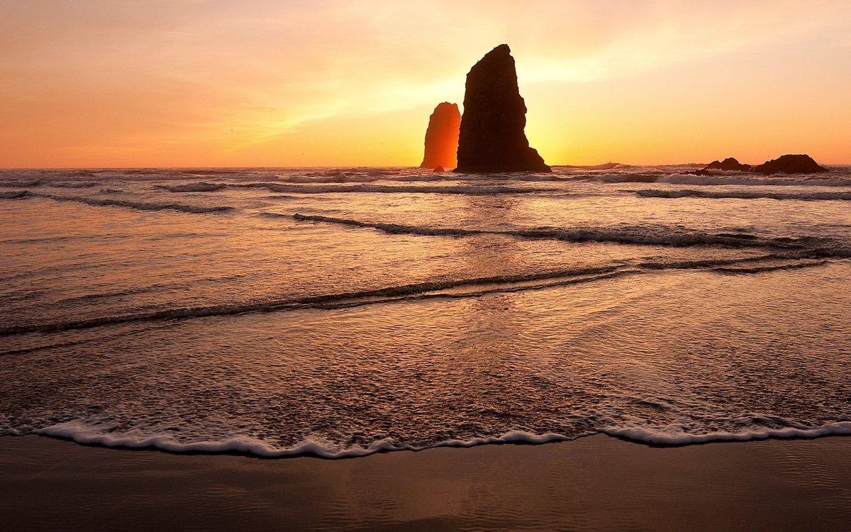 Открытка море закат, видео поздравление днем