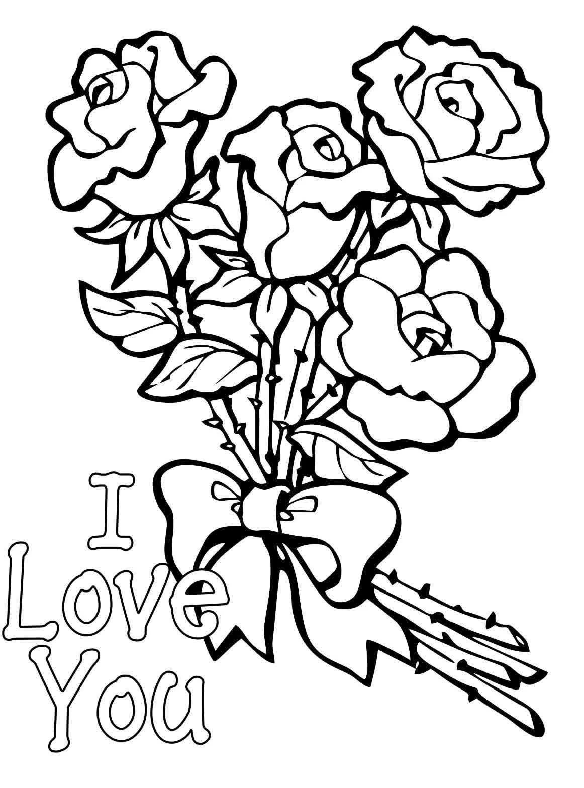Открытка цветочки раскраска, фон зимний