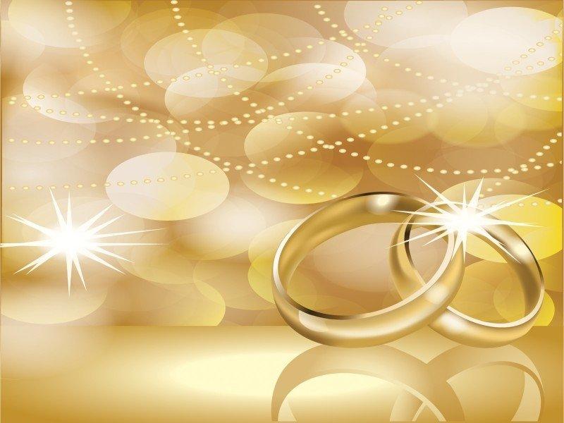 Шаблон открытки золотая свадьба