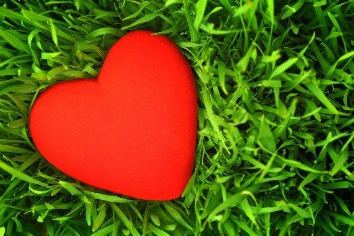 Картинки с зелеными сердечками