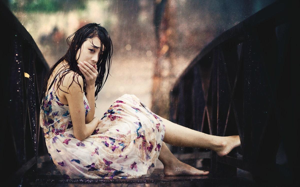 фотосессия под дождем идеи может поражать кожу