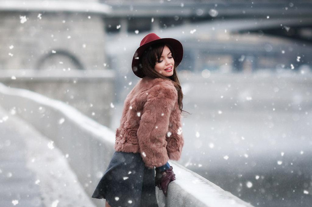 фотосессия фото на улице зимой в городе норрис