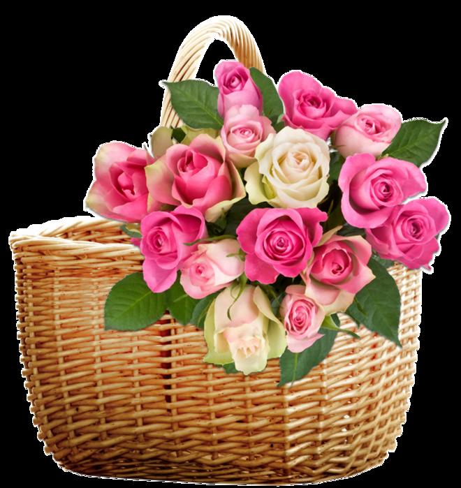 Картинки корзина цветов с днем рождения, черно белые