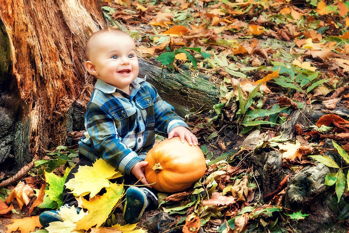 Картинки осень и дети красивые