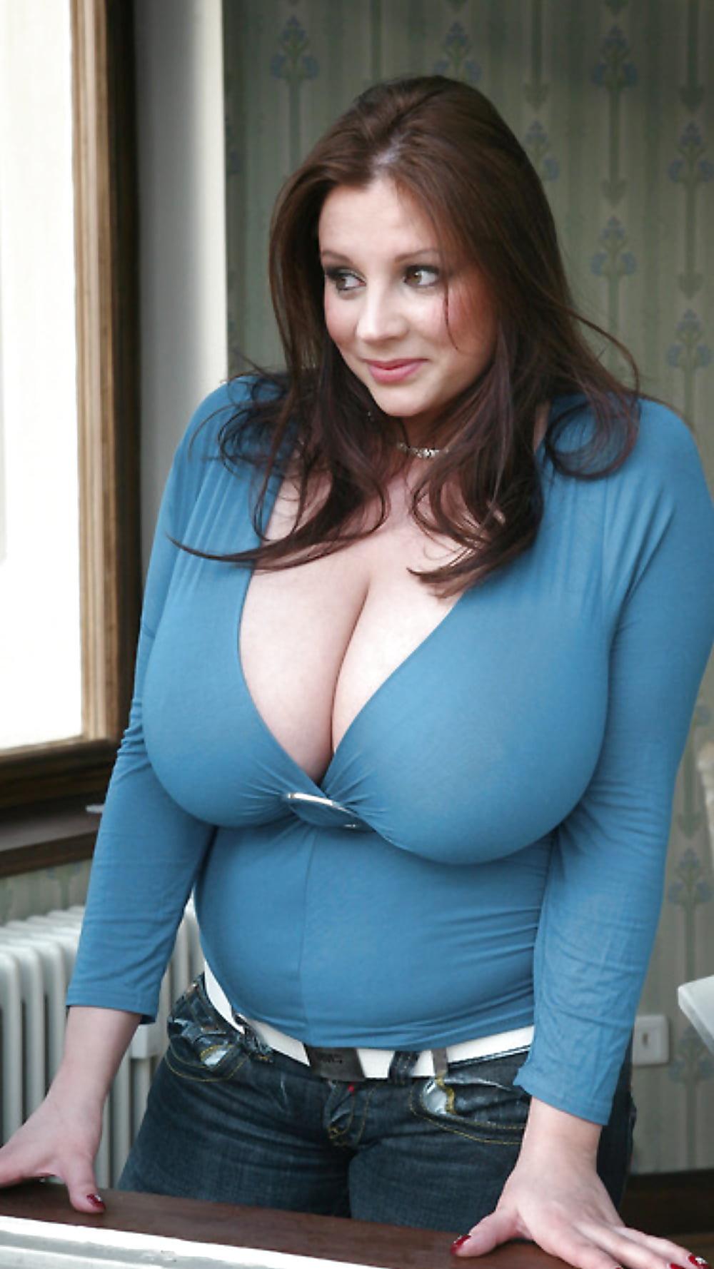 British mega sized natural breasts