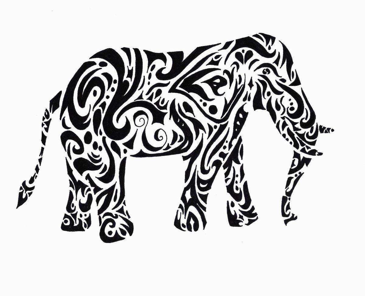 картинка векторные черно белые картинки животных просто