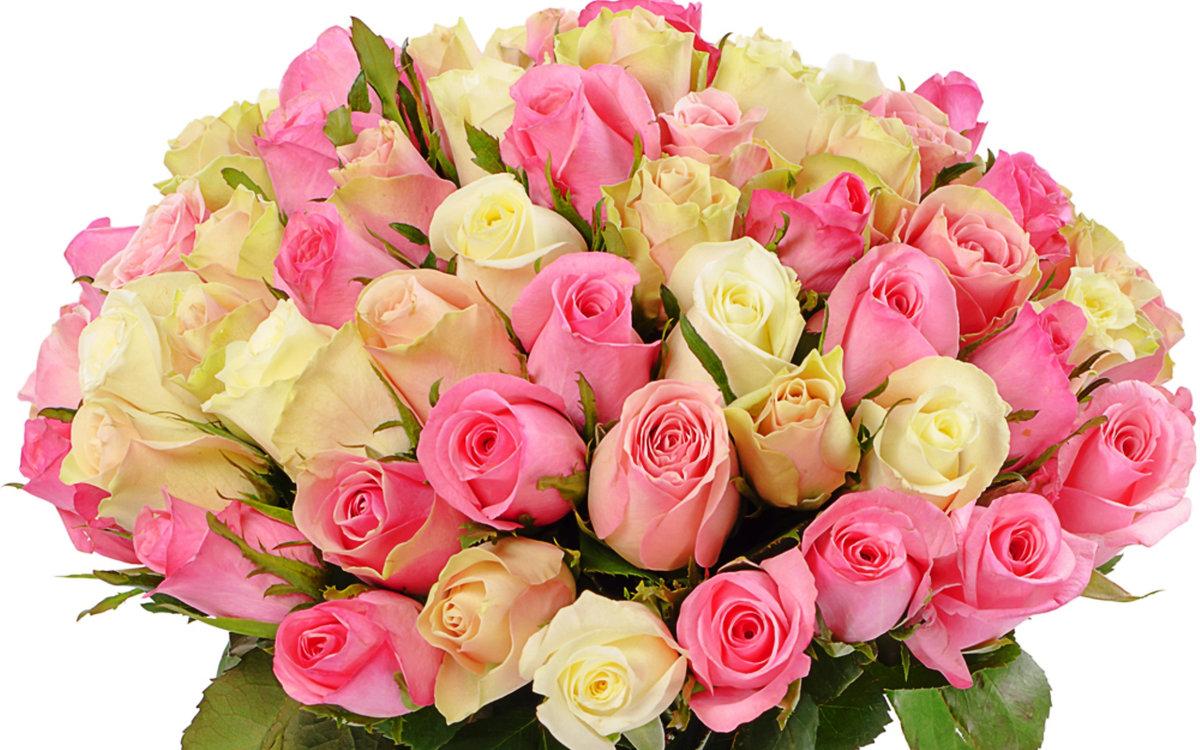 Открытки поздравления, открытка с букетом розовых роз